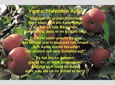 Vom schlafenden Apfel Robert Reinick Hörbeispiel
