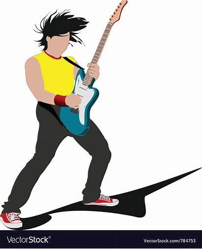 Rockstar Vector Cartoon Royalty Rock Vectorstock Star