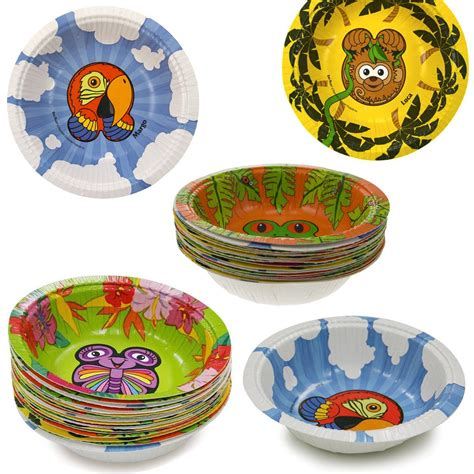 pals zoo hefty animal rainforest collection plates bowls disposable party jungle amazon discontinued 60ct manufacturer animals plastic paper