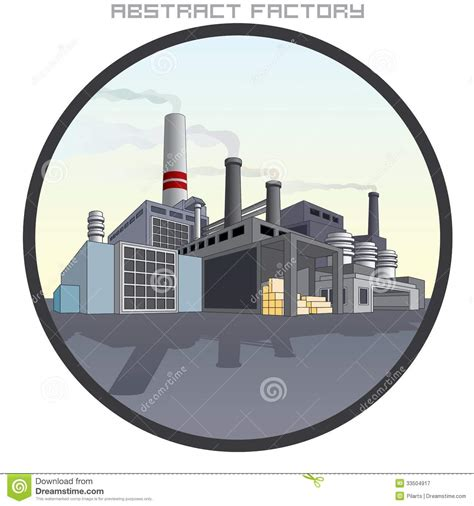 design on stock fabriek illustration der abstrakten fabrik lizenzfreie