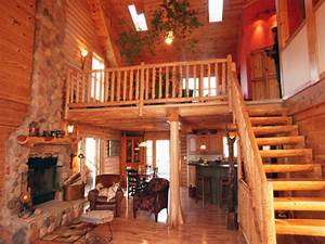 Log home floor plans with loft log home interiors loft for Log homes interior designs 2