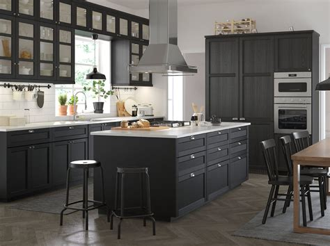 black kitchen cabinets ikea a taste of traditional craftsmanship