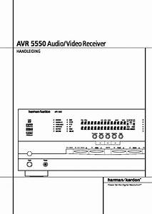 Harman Kardon Avr 5550  Serv Man4  User Guide    Operation