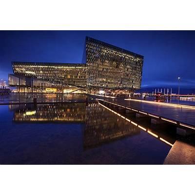 Iceland - Reykjavik Blue hour at Harpa Concert Hall a