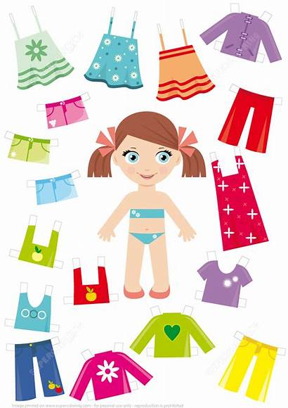 Doll Paper Clothes Summer Craft Printable Template