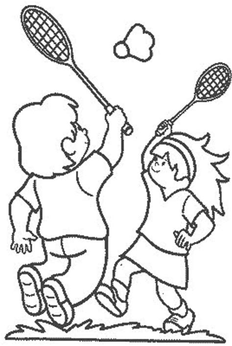 transmissionpress badminton game kids coloring pages