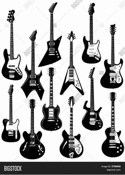 Guitar Guitars Electric Rock Clipart Bass Vectorstock