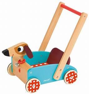 Chariot Bois Bébé : janod chariot de marche crazy doggy j05995 jouet en bois trotteur ~ Teatrodelosmanantiales.com Idées de Décoration