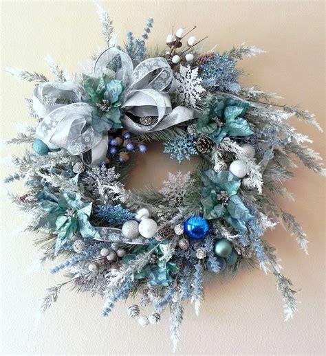 blue christmas wreath design interiordecodir com