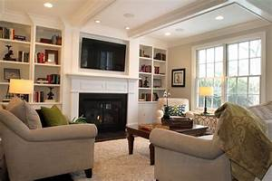 family room decorating ideas with tv ...
