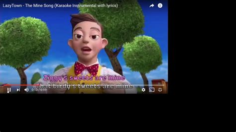 screaming the lyrics to the mine song lazy town maiacookie