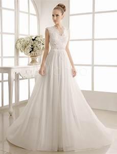 wedding dresses chiffon v neck beach bridal dress pearls With robe dentelle ecru