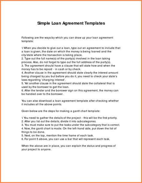 loan agreement template  family members