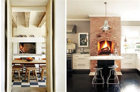 cocinas  chimenea en ambientes rusticos  urbanos