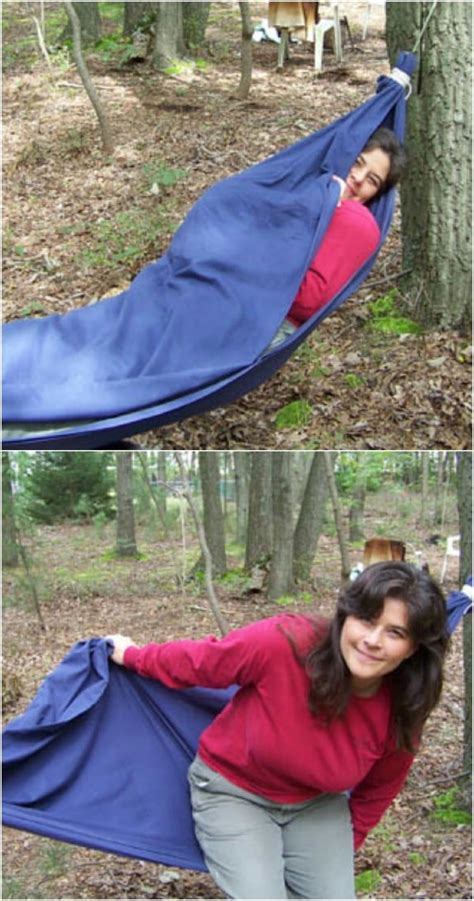 How To Make A Hammock With A Sheet by 30 Creative And Crafty Ways To Repurpose Bed Sheets