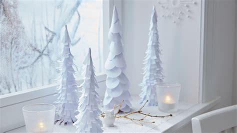 Weihnachtsdeko Papier Basteln by Diy Weihnachtsdeko Winterwald Aus Papier Diy Academy