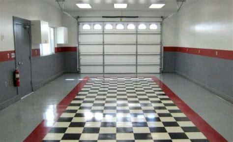 tile flooring for garage the benefits of vinyl composite tile vct garage flooring all garage floors