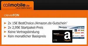 Amazon Gutschein Prüfen : 30 bestchoice mit nur 5 90 einsatz callmobile schn ppchen blog mit ~ Markanthonyermac.com Haus und Dekorationen