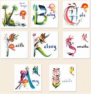 letter brush art name painting pinterest calligraphy With painting alphabet letters