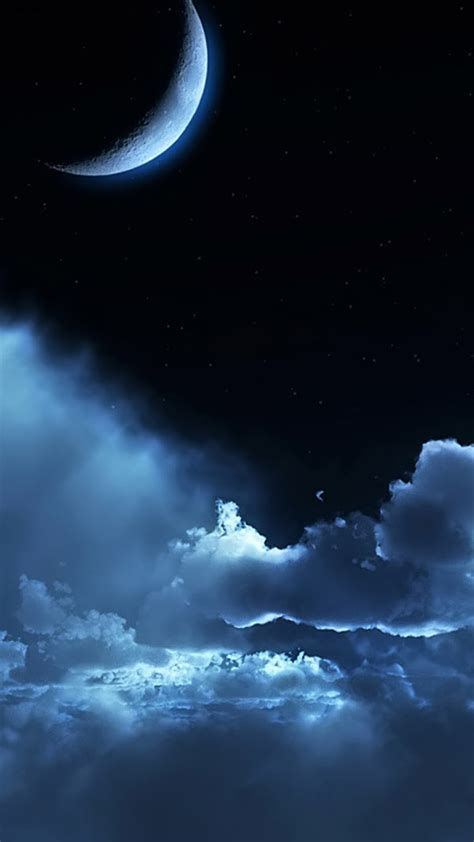 Night Sky Hd Wallpaper For Your Mobile Phone