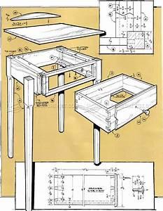 Pencil Post Nightstand Plans • WoodArchivist