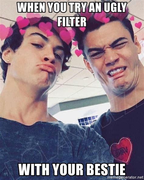 Dolan Meme Generator - when you try an ugly filter with your bestie dolan twins bizz meme generator