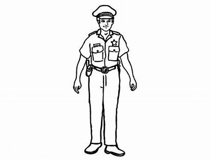 Policeman Coloring Pages Printable Clipart Police Colouring