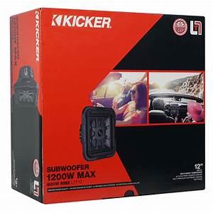 Kicker 46l7t124 12 U0026quot  1200w L7t Subwoofer Solo