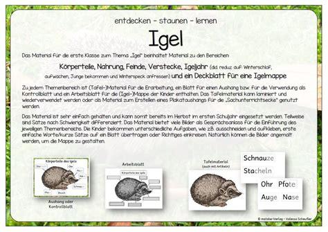 Der Garten Unterrichtsmaterial by Grundschule Material Kostenlos Arbeitsbl 228 Tter Igel
