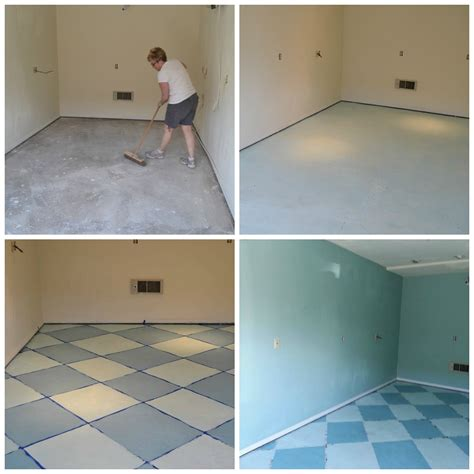 charming painted concrete floor before and after with