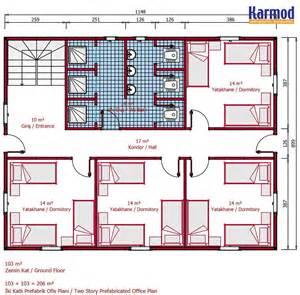 simple cabin floor plans karmod 206 m modular dormitory accommodation building