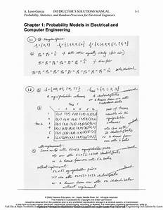 Solution Manual For Probability Statistics And Random Processes For Electrical Engineering 3rd
