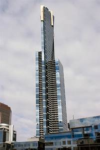 Eureka Tower From Southbank  Melbourne Australia