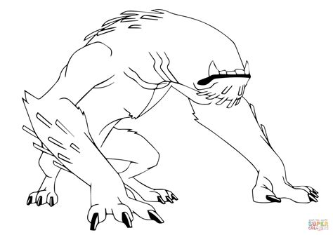Ben 10 Wildmutt From Ben 10 Coloring Page Free Coloring