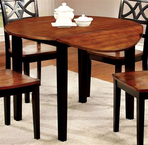 cherry drop leaf dining table dover ii black and cherry drop leaf round dining table