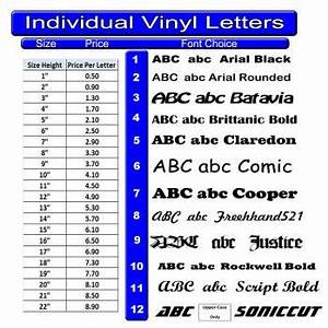 Individual vinyl letters for Individual vinyl letters