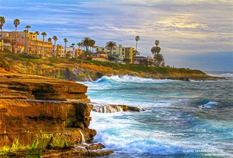 La Jolla by Deloprojet Amazing Sunset At La Jolla San Diego California