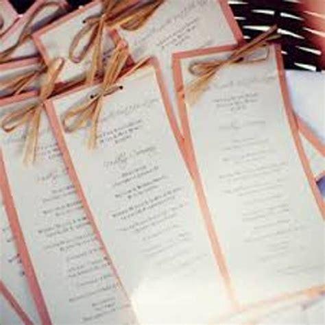 How To Make Wedding Ceremony Programs 6 Ideas Daily