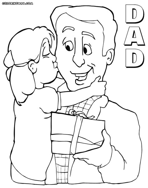 Father Daughter Coloring Pages Bltidm