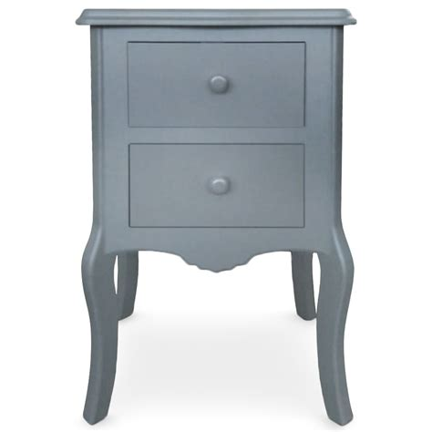 le de chevet chambre table de chevet 2 tiroirs retro gris lestendances fr