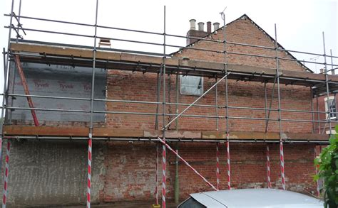 Dangerously Unstable Gable Wall Secured