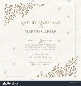 invitation card floral seamless pattern wedding stock With wedding invitation graphic design cost