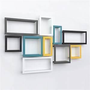 étagère Murale Porte Cadre : etag re murale cadre stick blanc presse citron ~ Premium-room.com Idées de Décoration