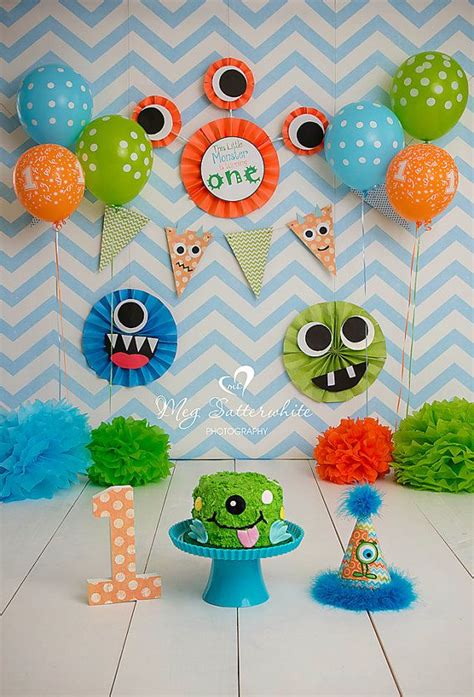 monster birthday backdrop