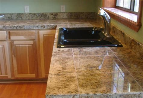 Marble Tile Kitchen Countertop