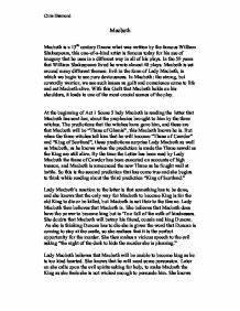 Macbeth book re... Macbeth Summary