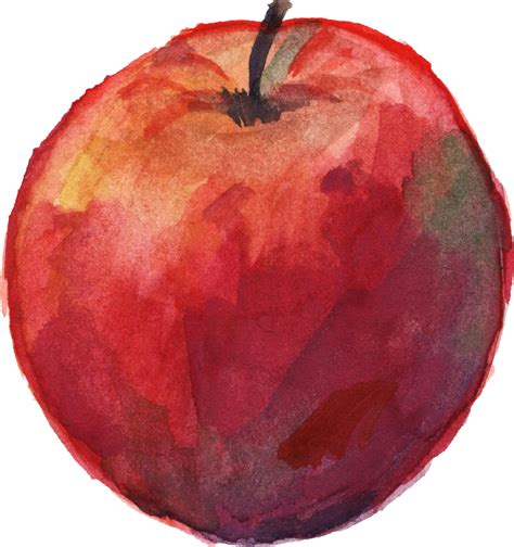 6 Watercolor Apple (PNG Transparent) | OnlyGFX.com