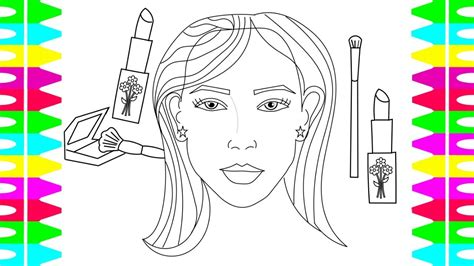 coloring pages  kids   draw  womans face