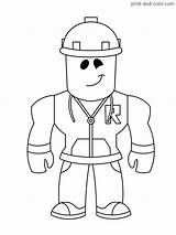Roblox Coloring Pages Print Printable Boys Colouring Character Sheets Easy Builderman Cartoon Games Drawings Dibujos Mandalas Printables Coloringpages Game Minecraft sketch template