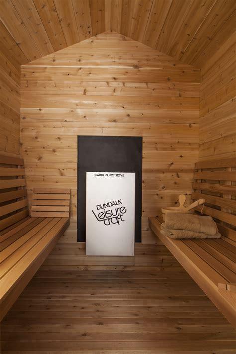 outdoor red cedar cabin sauna  dundalk canada